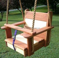 Wood Tree Swing Cherry/Maple Kids Seat Swing by WoodTreeSwings