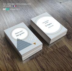 Carte De Visite Formes Gomtriques Graphic Design
