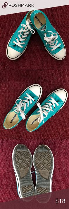 Teal Converse All Star Sneakers, Size 9 Teal Converse All Star Sneakers, Size 9. Excellent like-new condition. Worn only a couple times. From a smoke-free home. Bundle for a 10% discount! Converse Shoes Sneakers