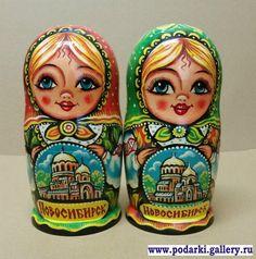 Gallery.ru / Матрешки - Авторские изделия с Новосибирской символикой - podarki
