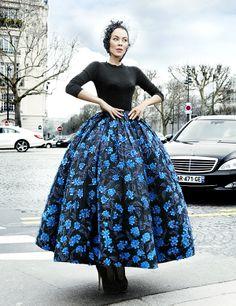 Ulyana Sergeenko at Paris Fashionweek Fall/Winter Ready-to-wear 2013-2014