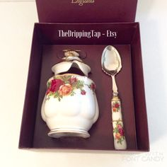 Royal Albert Old Country Roses Preserves Jam Pot by TheDrippingTap
