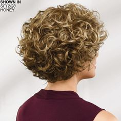Brit WhisperLite® Wig by Paula Young® - Short Hair Styles Short Curly Pixie, Short Pixie Haircuts, Haircuts With Bangs, Short Hairstyles For Women, Curly Bob Hairstyles, Easy Hairstyles, Curly Hair Cuts, Wavy Hair, Short Hair Cuts