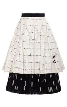 Shop A Line Pintucked Paneled Skirt by Thom Browne for Preorder on Moda Operandi