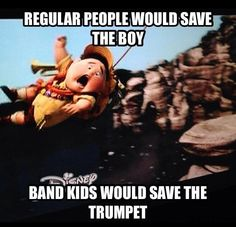Whaaaaaaat? Pfft. I would save the trumpet AND the boy! (though the trumpet would probably be first priority.....)