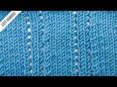 Ploughed Acre Lace Stitch :: Knitting Stitch :: New Stitch a Day