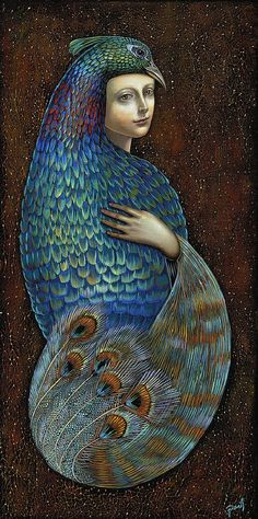 Hera (artist not credited) wife and hearth keeper - goddess within every woman. The reason I know have a peacock tattoo!