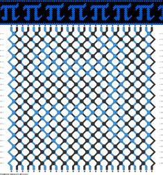 Friendship Bracelet Pattern - Pi - Math Nerd