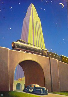 What an awesome painting by Robert Laduke! This was featured on phawker.com's post about our future train route plans.