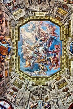 Ceiling Artwork, Marble Hall, Belvedere Palace, Vienna, Austria, photo by Catherine Biocca