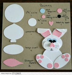 You probably have all these punches Bunny Punch sheet Source by Easter Art, Easter Crafts, Crafts For Kids, Paper Punch Art, Punch Art Cards, Tarjetas Stampin Up, Stampin Up Cards, Diy Easter Cards, Handmade Easter Cards
