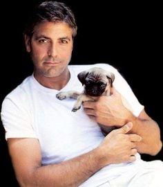 George & a pug! OMG!!