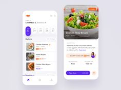 Food Catering Mobile App designed by Jakub Szewczyk for widelab. Food Design, App Design, Paneer Biryani, Red Thai, Delivery App, Mobile Ui Design, Dashboard Design, Chicken Tikka, Order Food
