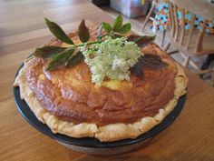 Sambocade — Medieval Elderflower and Cheese Tart