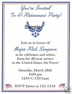 1000 images about military retirement invitations party for Official air force powerpoint template