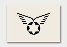 Israel Airline Designed by Otto H. Treumann (Netherlands) #retro #logo #design