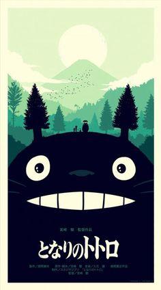 New Mondo poster for MY NEIGHBOR TORTORO (Hayao Miyazaki, Japan, 1988)    Designer: Olly Moss