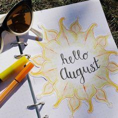 #bujo #filofax #bulletjournal #august
