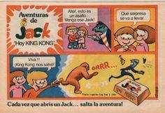 """Chocolatines """"Jack"""" tira comica de Felfort. Pieza Gráfica #Publicidad #Vintage"""