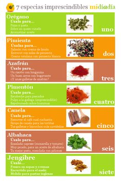 7 especias y hierbas aromáticas imprescindible en tu cocina