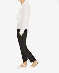 ZARA - WOMAN - STUDDED WHITE D'ORSAY SHOES
