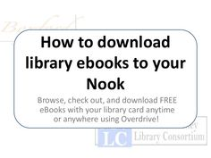 Want to read library ebooks on a Nook? We can help! This quick presentation will walk you through borrowing ebooks from start to finish.