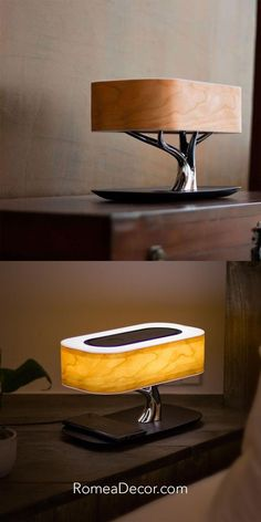 Get your Tree Lamp now at RomeaDecor.com Tree Lamp, Bedside Table Lamps, Light Of Life, Tree Lighting, Sunglasses Case, Art Pieces, Luxury, Wood, Side Table Lamps
