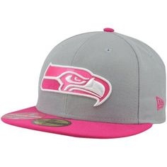 80fce7feb New Era Seattle Seahawks Breast Cancer Awareness On-Field Player 59FIFTY  Fitted Hat - Gray