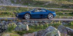 1998 Ferrari 355 GTS F1 Nart Blue at the Sustenpass, Switzerland