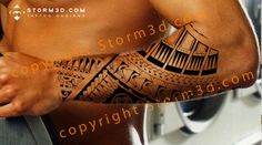 forearm tattoo design polynesian samoan style patterns arm