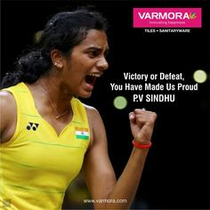 Victory or Defeat you have made us proud P.V.Sindhu P V Sindhu, Olympic Champion, Just A Game, Rio 2016, Women In History, Badminton, Victorious, Olympics, Personality