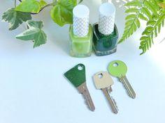 customiser des clés avec du vernis à ongles