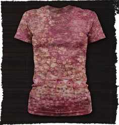 """""""Sequoia Sublimation Tee"""" from the new Fall collection from Karma. Karma is a line of boho inspired purses, wristlets, hats, wallets, shirts and other small accessories. Available at Prairie Patches in Lawrence, Kansas. Call (785)749-4565 to reserve yours."""