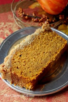 Pumpkin Bread; Im repining this because I finally made it and I used 1 TBSP of pumpkin spice instead of the spices listed, and I baked it in a 8x8 square cake pan... and it came out amazing (I baked for about 50m)  Perfect texture and sweetness. YUM