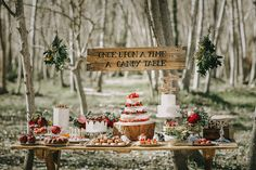 Rustic Dessert Table - Image by Pablo Laguia - Otaduy Wedding Dresses For A Rustic Outdoor Wedding Inspiration Shoot In Spain From Photographer Pablo Laguía And Wedding Planner Paloma Cruz