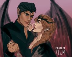 Nelm (@projectnelm) | Twitter: WIP of Feyre and Rhys.