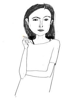 いらすとれーしょん Joan Didion