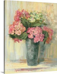 Carol Rowan Premium Thick-Wrap Canvas Wall Art Print entitled Pink Hydrangea, None