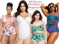 The ultimate swimsuit shopping guide for plus size women. All the online swimwear stores listed. #swimsuit #plussizeswimwear #plussizesummer