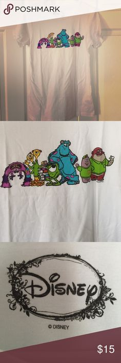 """Disney Monsters University Tee This cute Monsters U tee would be perfect for a day in the Disney Parks! It is brand new, never worn, but no tags. Measurements are 16.5"""" across and 27"""" from shoulder to hem. Disney Tops Tees - Short Sleeve"""