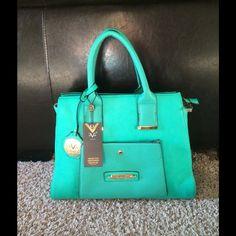 "SALENWT Versace teal satchel New w/tags Versace teal Abundantia satchel. Versace 1969 Abbigliamento Sportivo SRL Milano Italia. Length 14.5"", width 6"", Height 11"", with handles 16"" high. Comes with dust bag Versace Bags Satchels"