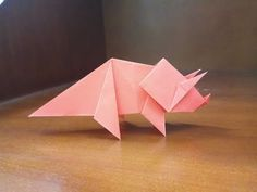 origami easy dinosaur triceratops – Dinosaur World Origami Ball, Instruções Origami, Origami Gift Box, Origami Paper Folding, Origami Bookmark, Origami Fish, Origami Butterfly, Paper Crafts Origami, Origami Stars