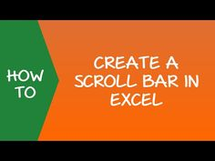 How to Create a Scroll Bar in Excel #ExcelTips #Scrollbar #Spreadsheet