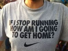 part of the reason running is one of my favorite workouts, you can't stop!