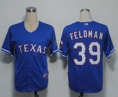 Rangers  39 Scott Feldman Blue Cool Base Embroidered MLB Jersey! Only   18.50USD 0f4626808d5