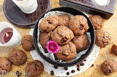 Di gotuje: Ciastka czekoladowo-kawowe z syropem klonowym i nu...