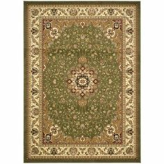 Safavieh LNH329B Lyndhurst Collection Green and Ivory Area Runner, 2-Feet 3-Inch by 6-Feet by Safavieh. $51.61. This runner measures 2-feet 7-inch by 6-feet. 100% Polypropylene Pile. The traditional pattern of this rug will give your room a elegant accent. This rug features a green background and ivory border, and displays beautiful panel colors of burgundy, green, gold, and blue. The high-quality polypropylene pile fiber adds durability and longevity to these rugs. The ...