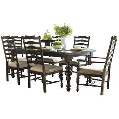 Dalton Dining Table Feast Your Eyes ❤ liked on Polyvore featuring home, furniture, tables, dining tables, dining, wooden furniture, wooden table, wood dining table, wooden dining table and turned leg dining table
