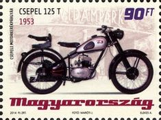 (Hungarian Old-timer Motorcycles - Csepel Old Motorcycles, Stamp Collecting, Postage Stamps, Motorbikes, Transportation, Retro, Scooters, Buses, Hungary