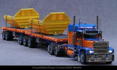 Trailer 7 (B-Double Flatbed): A LEGO® creation by 2LegoOrNot2Lego Ingmar Spijkhoven : MOCpages.com